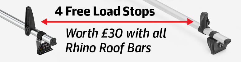 Free Load Stops with all Rhino Roof Bars