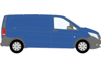 Vito 2015 onwards Compact Low Roof Twin Rear Doors