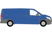 Vito 2015 onwards XLWB Low Roof Twin Rear Doors
