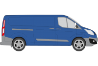 Transit Custom 2013 onwards LWB Low Roof Twin Rear Doors