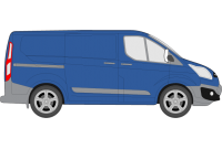 Transit Custom 2013 onwards SWB Low Roof Twin Rear Doors