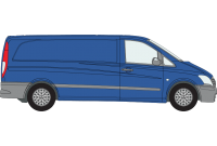 Vito 2003 to 2014 XLWB Low Roof Twin Rear Doors