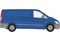 Vito 2003 to 2014 LWB Low Roof Twin Rear Doors