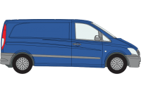 Rhino Roof Racks & Bars for Mercedes Vito 2003 On Compact Twin Doors