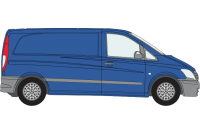 Vito 2003 to 2014 Compact Low Roof Twin Rear Doors