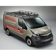 Rhino Modular Roof Rack - Vauxhall Vivaro 2014 Onwards SWB Low Roof Tailgate  SWB Low Roof Tailgate H1 L1