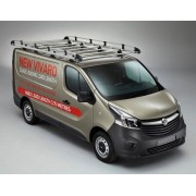 Rhino Aluminium Roof Rack - Vauxhall Vivaro 2014 Onwards SWB Low Roof Tailgate  SWB Low Roof Tailgate
