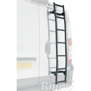 Rhino 7 Step Rear Door Ladder - Easy Fit With Pre Cut Custom Reinforcing Plates  LWB High Roof
