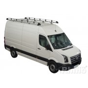 Rhino Aluminium Roof Rack - Mercedes Sprinter 2006 On XLWB High Roof Twin Doors XLWB High Roof