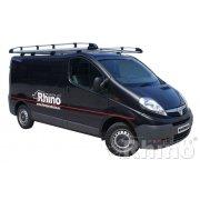 Rhino Aluminium Roof Rack - Vauxhall Vivaro 2002 - 2014 SWB Low Roof Tailgate