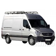 Rhino Modular Roof Rack - Mercedes Sprinter 2006 On XLWB High Roof Twin Doors XLWB High Roof