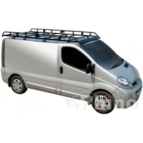 Rhino Modular Roof Rack   Vauxhall Vivaro 2002   2014 SWB Low Roof Twin  Doors